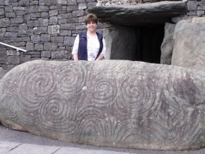 Joy Rains in Newgrange